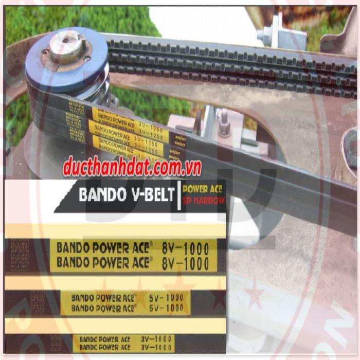 dây curoa bando power ace vbelts 3V 1250